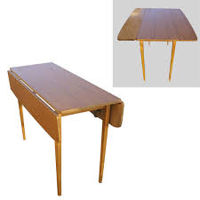 Drop Leaf Breakfast Table Midcentury Retro Style Modern Architectural Vintage Furniture From