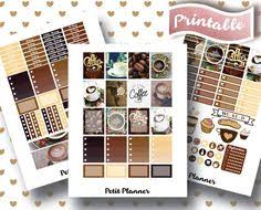 coffee planner stickers printable erin condren stickers printable planner instant download