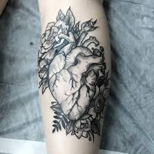 heart and flowers tattoo shredingerova tattoos pinterest tattoo piercings and tatting
