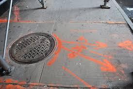 orange markings on nyc sidewalks ingrid burrington u0027s seeing