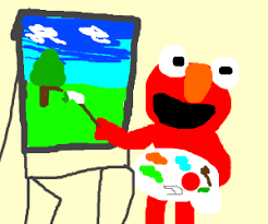 elmo painting why don t we band