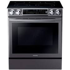 Home Depot In Store Kitchen Design Samsung 5 8 Cu Ft Slide In Electric Range With Self Cleaning