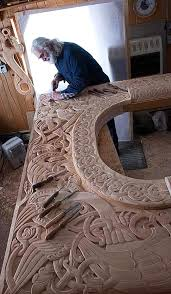 awesome viking wood carving the meta picture