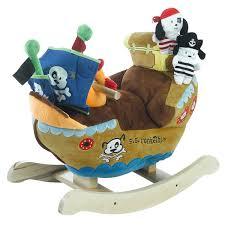 amazon com rockabye ahoy doggie pirate ship rocker toys u0026 games