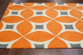 Orange Modern Rugs Outstanding Area Rugs Orange Roselawnlutheran Intended For