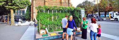 plant covered mobile green living room travels through europe
