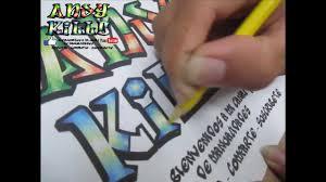 imagenes para dibujar letras graffitis como colorear letras estilo graffiti youtube