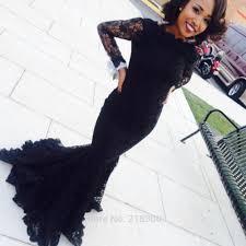 com buy modest black mermaid prom dresses long sleeves boat neck