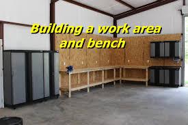 Garage Ideas Plans Garage Workbench Buildingch Rolling One Wall Garage Ideas Plans