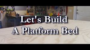 How To Build A Platform Bed With Plywood by Make A Plywood Platform Bed Youtube