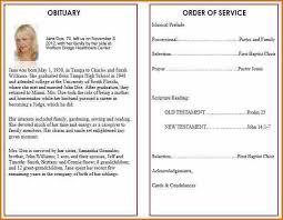 funeral program word template free funeral program template