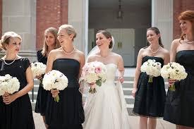 black and white wedding bridesmaid dresses black and white wedding by two be wed southern weddings