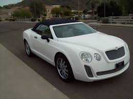 bentley coupe 2016 white chrysler sebring cross dressed as bentley continental gt convertible