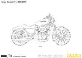 the blueprints com vector drawing harley davidson iron 883