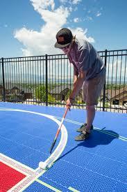 backyard basketball court in draper utah