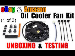 oil cooler with fan ebay amazon oil cooler fan unboxing test part 1 youtube