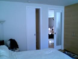 Interior Wood Doors With Frosted Glass Small Modern Bedroom Design With White Wall Interior Color Decor