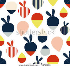 pattern clip art images abstract cute colorful fruits leaves line stock vector 719793796