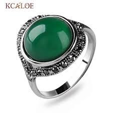 black crystal rings images Kcaloe dark green chinese stone engagement ring vintage retro jpg