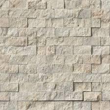 Split Face Stone Backsplash by Puebla 1x2 Split Face In 12x12 Mesh Brick Backsplash