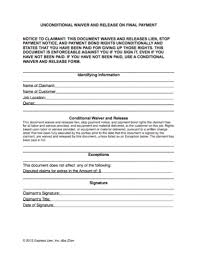 waiver of lien template what do you need to about construction lien waivers