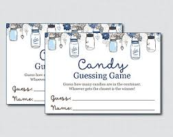 mason jar baby shower candy guessing game printable guess