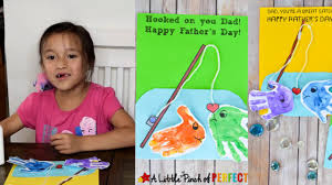 father u0027s day fishing handprint card kids craft tutorial and free