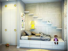 Room Decor Inspiration Fun Modern Simple Kids Bedroom Design With Wood Tone Wall And