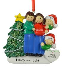 pregnant u0026 expecting christmas ornaments personalized