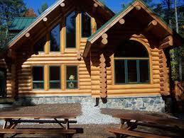 authentic log home sebago and lake homeaway harrison