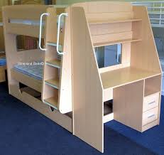 Olympic Bunk Beds With Trundle Bed And Workstation Desk Beech - Trundle bunk bed with desk