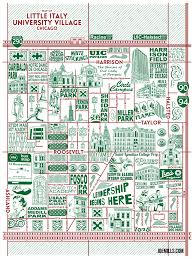 Chicago Neighborhood Map Poster new chicago playing cards and two new neighborhood maps available