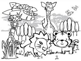 jungle printable coloring pages coloring