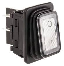 1935 3113 marquardt illuminated dpst on off rocker switch panel