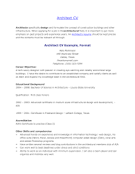 Architect Resume Sample by Perfect Architect Cv Or Resume Sample With Career Objective And