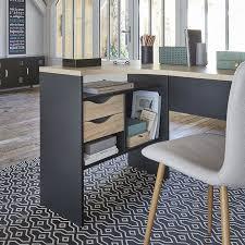 le bureau but bureau d angle alkor imitation chêne et noir