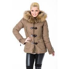 jacky luxury jacky luxury winterjas met echt bont in taupe