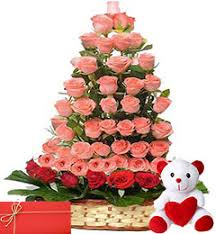 birthday gift send buy order teddy and roses bouquets for birthday gift