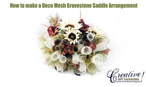 how to make a beautiful deco mesh gravestone saddle youtube