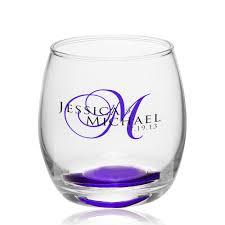 personalized 11 5 oz mikonos stemless wine glasses 0453al