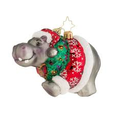 christopher radko ornaments 2016 radko hippo holidaze ornament
