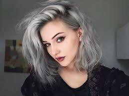gray hair color trend 2015 ash grey ombre hair nail art styling