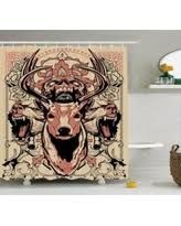 Skull Bathroom Accessories by Summer Savings On Antlers Decor Shower Curtain Set Deer With