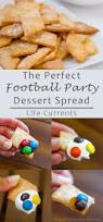 football party dessert spread including pie crust cookies with