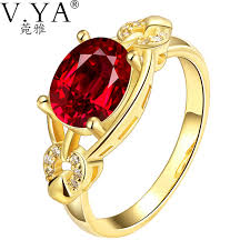 golden gold rings images V ya new fashion rings red stone cubic zirconia golden rings gold jpg