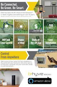 Home Depot Sprinkler Design Tool by Orbit B Hyve 6 Station Indoor Outdoor Sprinkler Timer With Wi Fi
