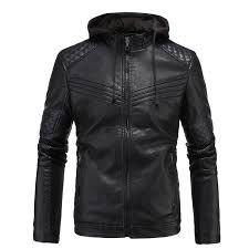 popular leather jacket men winter pu jackets and coat cheap