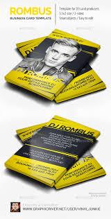 rombus dj business card by vinyljunkie graphicriver