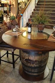 Bar Kitchen Table by Whisky Barrel Table Beautifully Handcrafted