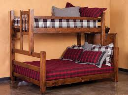 Rustic Bunk Bed Plans Twin Over Full by Best 25 Bunk Bed King Ideas On Pinterest Bunk Beds With Storage